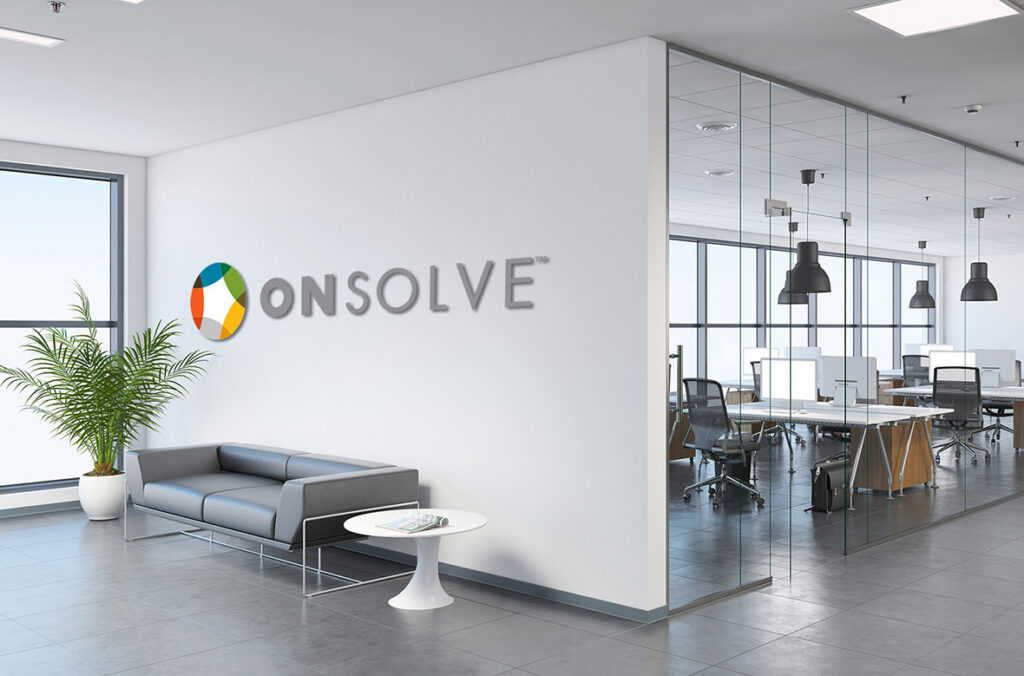 Photo of an OnSolve office entry